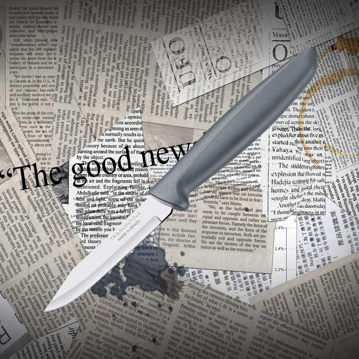 Нож кухонный Tramontina 23420/063 PLENUS овощной
