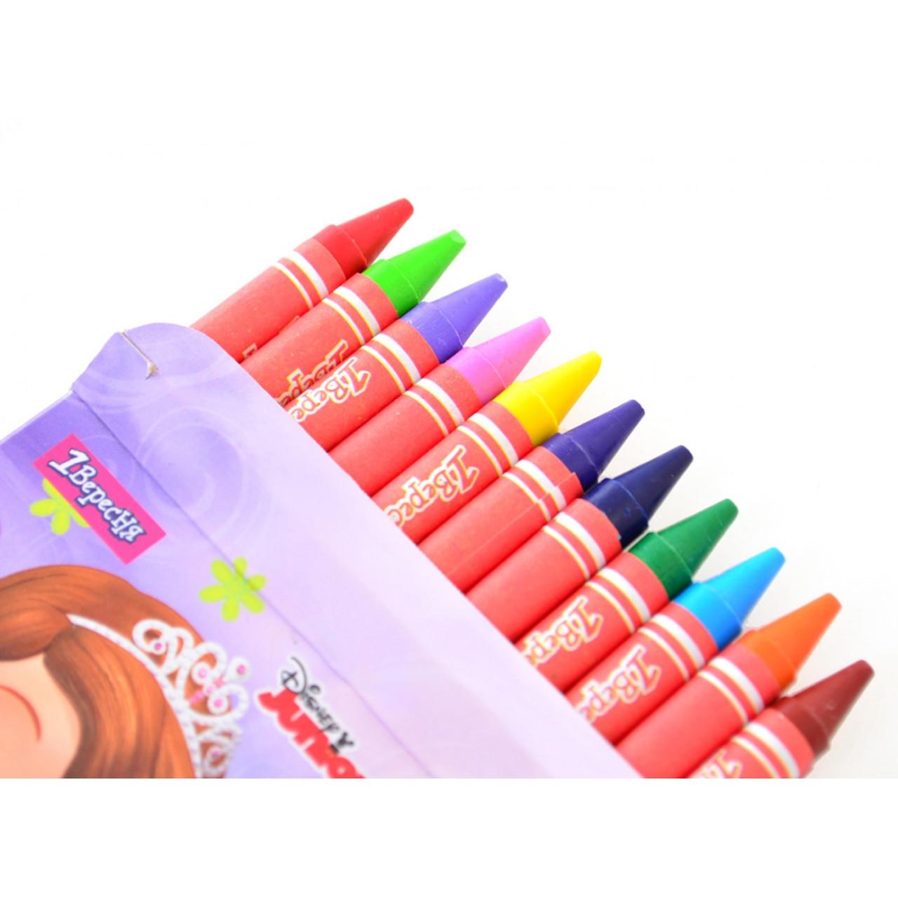 Олівці воскові 12 кольорів