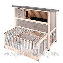 Клітка вольєр для кроликів RANCH 120 MAX Ferplast (висувна нижня частина, 2 поверхи), 117*69*h 107 см