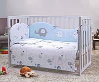Постельный комплект для новорожденных Veres Elephant family blue