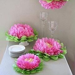 Бумажные цветы в детскую комнату 35 см