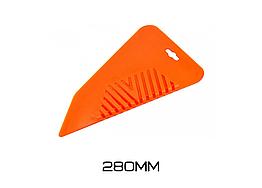 Шпатель прижимной обойный Крыло (жёлтый) Polax Premium 280мм