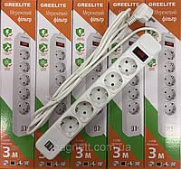 Сетевой фильтр, удлинитель на 5 розеток SP3 3м и 2 USB