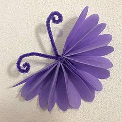 Бабочки из бумаги тишью 15 см разные цвета