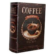 """Книга-сейф  """"Кофе"""" книга тайник в твердом переплете"""