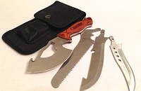 Туристический нож Егерь 4 в 1 в текстильной кобуре