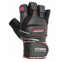 Перчатки для тяжелой атлетики Power System Ultimate Motivation PS-2810 L Black/Red, фото 1