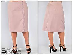 Стильная женская юбка в деловом стиле в пастельном цвете с 52 по 58 размер