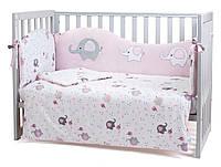 Постельный комплект для новорожденных Veres Elephant family pink
