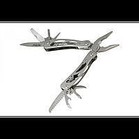 Мультитул скелетного типа, функциональный (12в1), полированная сталь, надёжный и неприхотливый, фото 1