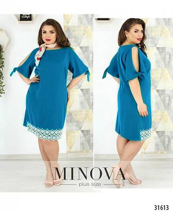 Великолепное женское платье ткань *Льняное полотно* 48, 50, 52, 54, 56 размер батал, фото 2