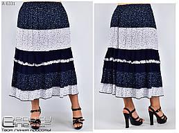Летняя красивая женская юбка с рюшами  с 48 по 58 размер