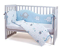 Защита в кроватку Veres Elephant family blue