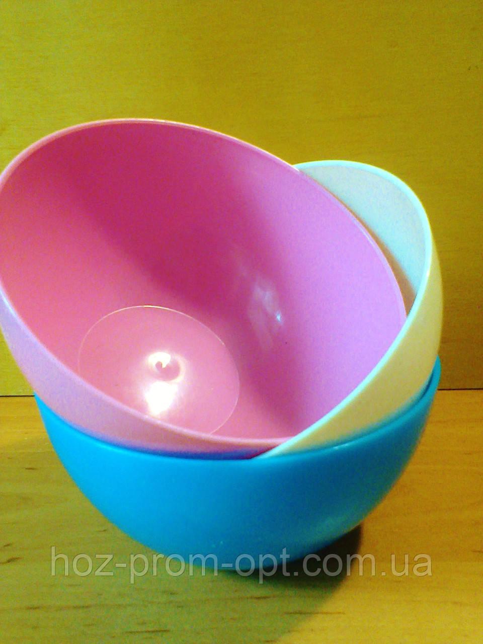 Салатница круглая  0.5 л, пищевой пластик.