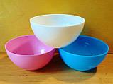 Салатница круглая  0.5 л, пищевой пластик., фото 2