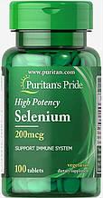 Селен Puritan's Pride Selenium 200 mcg 100 капс