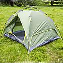 Палатка JY 1513 3- местная двухслойная ПОЛУАВТОМАТ, фото 5