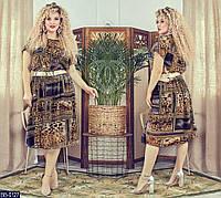 """Нежное женское платье """"Креп-шифон"""" низ на х-б подкладке 48, 50, 52, 54, 56, 58, 60, 62 размеры баталы"""