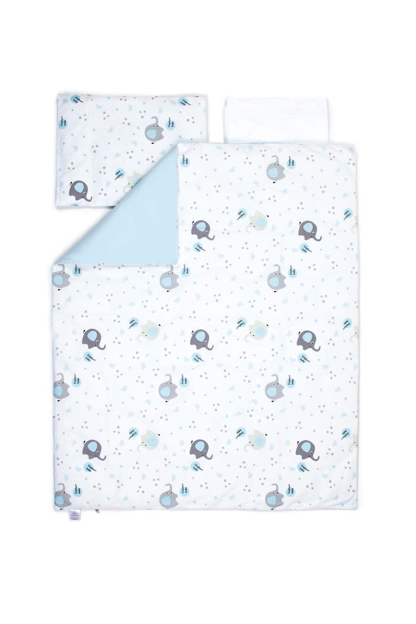Сменный постельный комплект Veres Elephant family blue 3ед