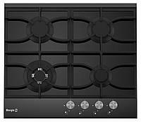 Варочная поверхность газовая BORGIO 6220/19 FFD Black Glass+Black Alum Panel