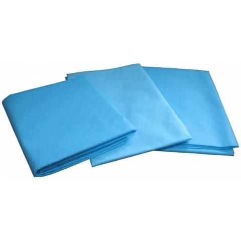 Одноразовые простыни в пачке Спанбонд Polix PRO&MED 25 г/м² 0,6x2 м 10 УП 500 ШТ Голубые