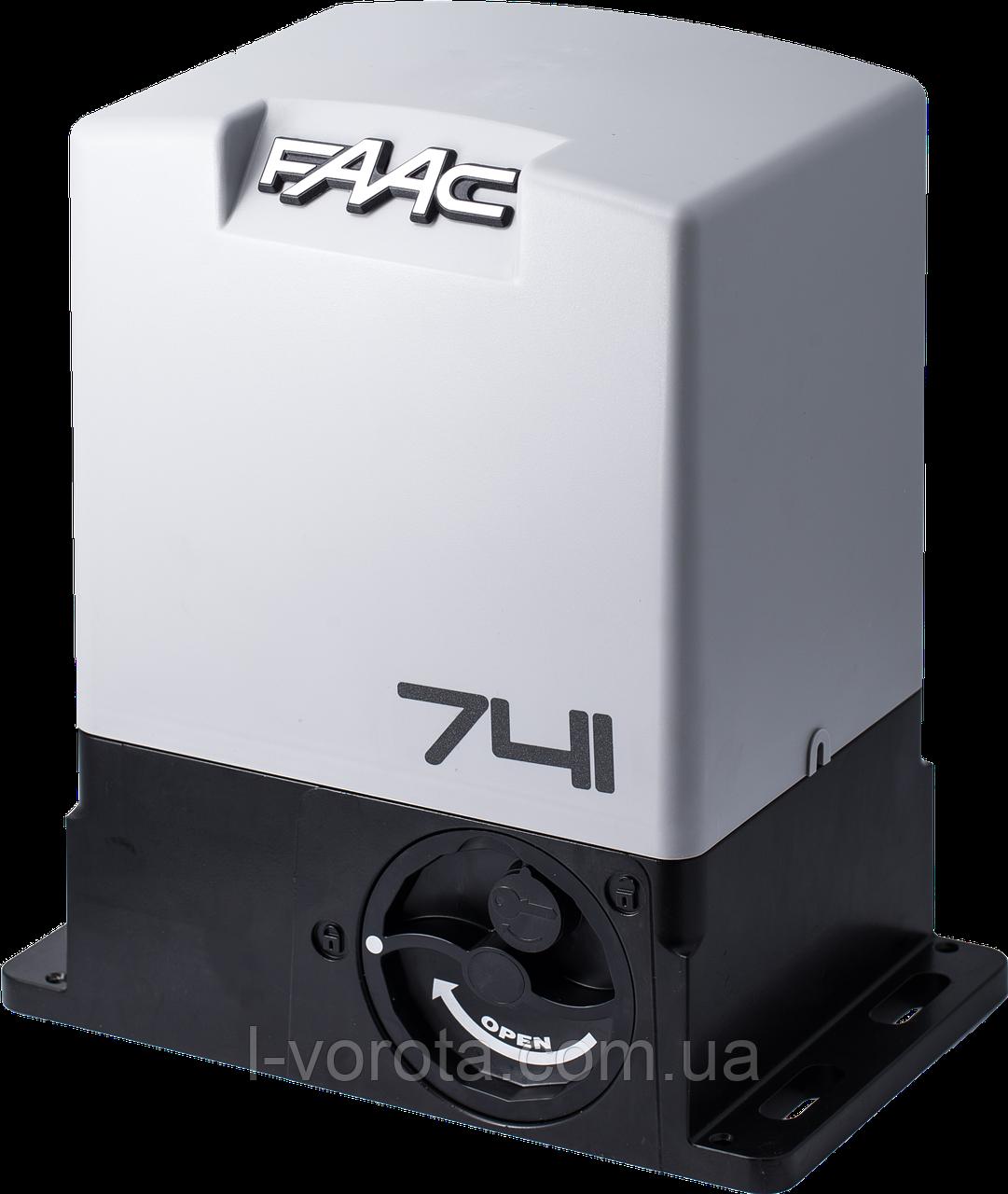 FAAC 741 комплект электропривода для откатных (сдвижных) ворот (макс. вес ворот 900 кг)