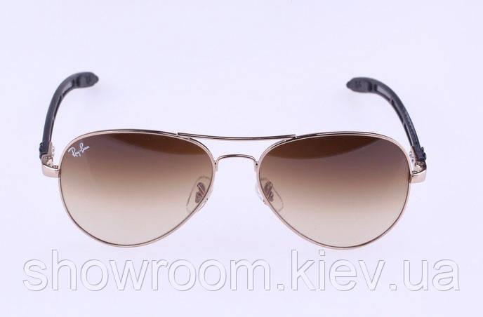 Женские солнцезащитные очки в стиле RAY BAN aviator 8307-001/51 carbon LUX
