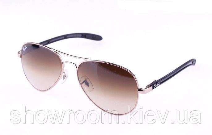 Мужские солнцезащитные очки в стиле RAY BAN aviator 8307-001/51 carbon LUX