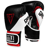 Боксерские перчатки TITLE GEL E-Series Training Gloves Черные с белым и красным