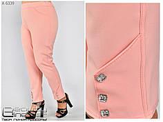 Модные женские брюки 7/8 зауженные батал с 54 по 66 размер, фото 3