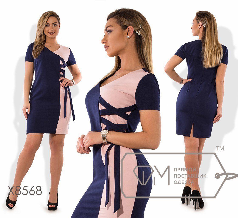 """Элегантное женское платье ткань """"Костюмная ткань"""" 48 размер батал"""