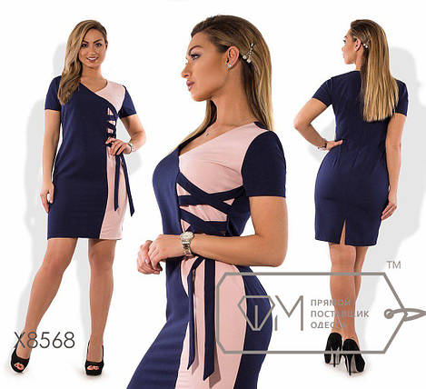 """Элегантное женское платье ткань """"Костюмная ткань"""" 48 размер батал, фото 2"""