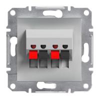 Розетка Schneider-Electric Asfora аудио двойная алюминий