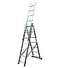 Алюминиевая трехсекционная лестница KRAUSE Corda 3х7 ступеней