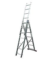 Алюминиевая трехсекционная лестница KRAUSE Corda 3х7 ступеней, фото 1