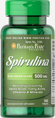 Спирулина Рuritan's Pride Spirulina 500 mg 100 капс, фото 2