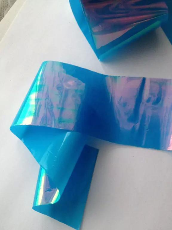 Битое стекло голубое