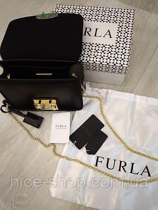 Клатч Furla Метрополіс чорний, шкіряний, фото 2
