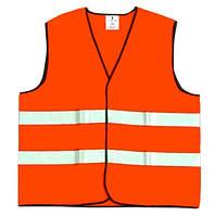 """Жилет сигнальний """"Дорожник"""" оранжевий з темно-синім кантом ОСВ-4 XL"""