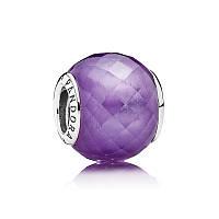 Шарм фиолетовая нежность из серебра 925 пробы пандора (pandora)