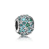 Шарм «Все краски океана» из серебра Pandora, 791261MCZMX