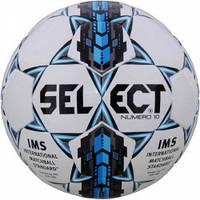 Мяч футбольный SELECT Numero 10 IMS (305) ,бел/сер/голуб, размер 5