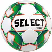 Мяч футзальный Select Futsal Attack NEW (046) бел/зел/grain