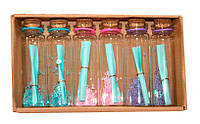 Бутылочка пожеланий 6 шт Wishing bottle  «Послание в бутылке», с бисером