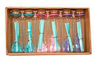 Пляшечка побажань 6 шт Wishing bottle «Послання в пляшці», з бісером
