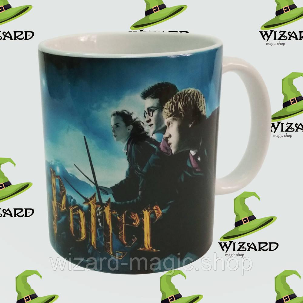 Чашка с принтом Гарри Поттер Битва за Хогвартс