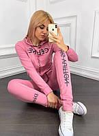 Спортивный костюм женский розовый, белый, фото 1