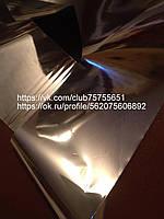Фольга для ногтей серебро темное глянец