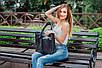 Женская сумка кожаная 02 черный кайман, фото 5