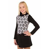 Теплое трикотажное платье для девочки подростка